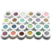 Crazycity 30 Mixed Colours Powder Pigment Glitter Mineral Spangle Eyeshadow Makeup Kits (30) by Xx shop