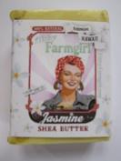 Jasmine Shea Butter BAR SOAP Jasmine Pikake Vanilla Soy by Filthy Farmgirl
