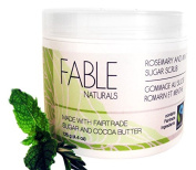 Fable Naturals All Natural Sugar Scrub, Rosemary/Mint, 130ml