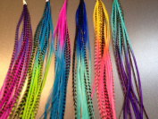 Feather Hair Extensions, 100% Real Rooster Feathers, 100 Long Thin Loose Individual Feathers, By Feather Lily
