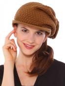 Rasta Knit Visor Hat (Winter Cap), Brown, Christmas X'mas