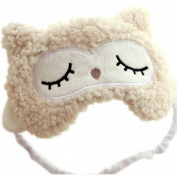 Ayygiftideas 2015 Lambs Wool Patch Eye Mask Eyeshade Cover Cute Sleeping Blinder