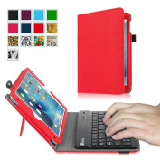Fintie iPad mini 4 Keyboard Case - Premium PU Leather Folio Stand Cover with Removable Wireless Bluetooth Keyboard for Apple iPad mini 4 (2015 Release), Red