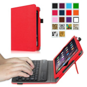 Fintie iPad mini 1/2/3 Keyboard Case - Premium PU Leather Folio Stand Cover with Removable Wireless Bluetooth Keyboard for Apple iPad mini 1 / iPad mini 2 / iPad mini 3, Red