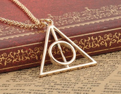 Leshery Film Movie Harry Potter Deathly Hallows Metal Gold Necklace Pendant As Gifts Hot