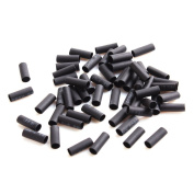 UNIQUEBELLA 500 Pcs Heat Shrink Tubes Micro Rings For Hair Extensions Black