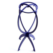 UNIQUEBELLA Wig Display Stand Cap Hair Holder Plastic Folding Stable Tool Blue New