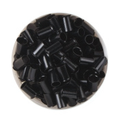 UQ 1000 PCS 3.5mm Black Colour Copper Tubes Beads Locks Micro Rings for Hair Extensions