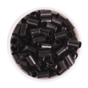 UQ 1000 PCS 3.5mm Dark Brown Colour Copper Tubes Beads Locks Micro Rings for Hair Extensions