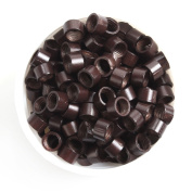 UQ 500 Pcs Dark Brown Micro Screw Thread Link 4.5mm Beads Rings Lined Micro-ring For Hair Extensions