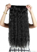 Sexybaby 140G 3/4 Full Head Synthetic Fibre Hairpieces Clip in Hair Extensions 60cm Corn Wave