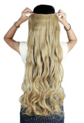 Sexybaby 3/4 Full Head Synthetic Fibre Hairpieces Clip in Hair Extensions 43cm Curly