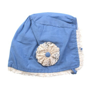 Beautiful Bead Cosy Headscarf Flower Bandana Hat Cute Baby Headpiece Blue