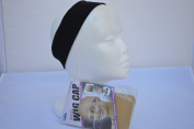 Wig Scarf and Head Covering Grip Comfort Band Bundle With Bonus Two Beige Wig Caps