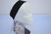 Wig Scarf and Head Covering Grip Comfort Band Bundle With Bonus Two Black Wig Caps