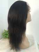 BRAZILIAN VIRGIN 30cm 130% DENSITY NATURAL colour SILK STRAIGHT FULL LACE WIG
