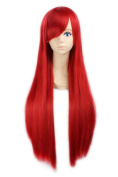 MOCOO 80cm Premium Quality Women's Long straight Wig Fashion Women Cosplay /Party Costume Wig(Red)JF001R