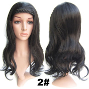 Simpleyourstyle Half Wigs 55CM / 22inch Curl Cosplay Wig For Women With Hair Clasp