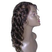 Brazilian Human Hair Deep Wave Glueless Lace Front Wigs 2#/27#highlight Colour 130 Density for Black Women
