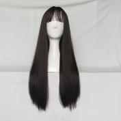 Fashion Curly Light Brown 70cm Cosplay Wig + Free Wig Cap