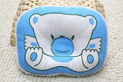 Cai-100% Cotton Soft Baby Shaping Pillow Toddler Lovely Bedding Infant Headrest Bear Oval Shape Light Weight ,Breathable and Washable Avoid Flat Head Pillow Cr05