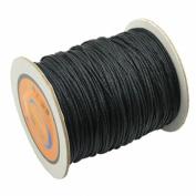 1mm BLACK Chinese Macrame Cord Thread Nylon Beading Cord ,Chinese Knot Nylon Braided Cord Shamballa Macrame Beading Kumihimo String 80m/87 Yards