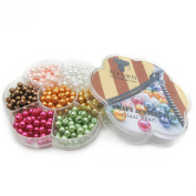 TOAOB Glass Pearl Beads Assorted Colours Round 6mm Wholesale Loose Beads for Jewellery Making 350pcs