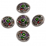 ZARABE Big Snap Button fit DIY Bracelet Pendant Windmill Enamel Multicolor 29mm