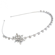 MJARTORIA Silver Colour Christmas Snowflake Headband Hair Band with Rhinestone Xmas Deco for Women Girls