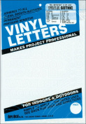 Permanent Adhesive Vinyl Letters & Numbers .190cm 302/Pkg-White