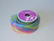 Rainbow Design Signature 3.8cm . x 3.7m Wire-Edged Ribbon - Great for the Christmas Season!