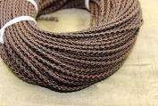 10 Metters/33 feets Dark Brown - Genuine Braided Leather Cords 3mm For Bracelet Neckacle