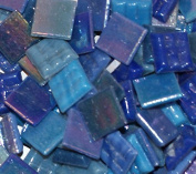 Hakatai Glass Mosaic Tile 1.6cm - ½ Pound Blue Blend FBL05