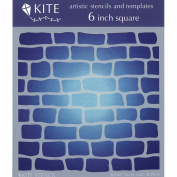 Judikins 15cm Square Kite Stencil-Stone Wall