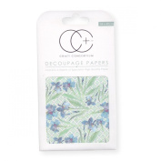 Craft Consortium Decoupage Printed Paper Pack of 3 - CP043 Blue Daf