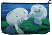 Manatee Cosmetic Bag, Zip-top Closer - Taken From My Original Paintings