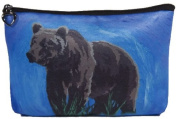 Grizzly Bear Cosmetic Bag, Zip-top Closer - Taken From My Original Paintings