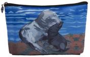 Sea Lions Cosmetic Bag, Zip-top Closer - Taken From My Original Paintings