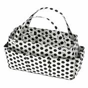 Luxury Divas Polka Dot Print Organiser Travel Tote Bag