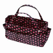 Luxury Divas Polka Dot Print Organiser Travel Tote Bag