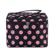 Cherry-pattern Big Travel Wash Organiser Case Toiletry/cosmetic/makeup Zipper Bag