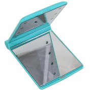 Youngman LED Lighted Makeup Mirror with 8 LED Lights Cosmetic Folding Portable Compact Pocket
