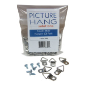 100 Pack Picture Frame Triangle Ring Hanger Heavy Duty Pro Picture Hanger with Screws 2.9cm x 1.4cm