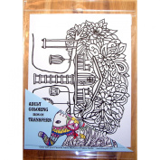 Zendoodle Iron On Transfers Treehouse Adult Colouring Inspired