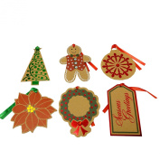 Large 8.9cm - 10cm Holiday Kraft Gift Tags with Foil Embellishments