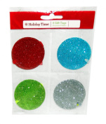 Glitter Round Gift Tags, 8-Pieces