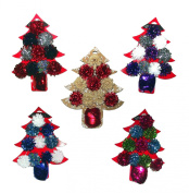 Christmas Tree Bows & Ribbon Roll Gift Wrap Set, Assorted - Colours Vary