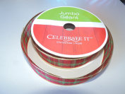 Plaid Design Signature 3.8cm . x 38m Jumbo Wire-Edged Ribbon - Great for the Christmas Season!