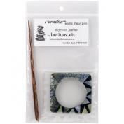 Mixed Shell Square Shawl Pin-