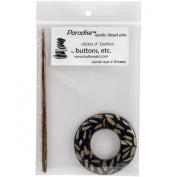 Natural Black Round Shawl Pin-